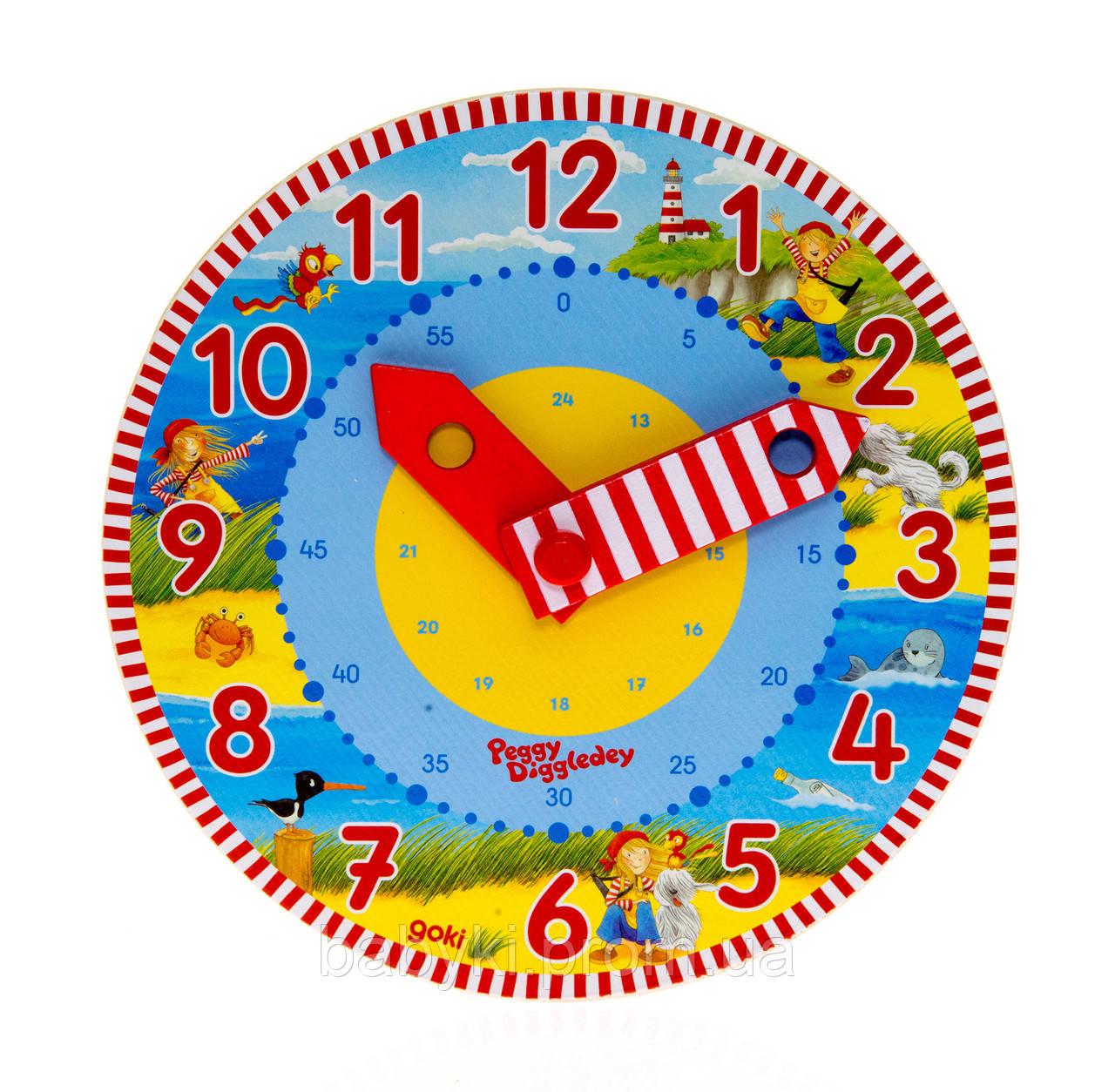 """Goki Часы Изучаем время, арт. 58526 - Интернет-магазин детских игрушек и товаров """"Бейбики"""" в Буче"""