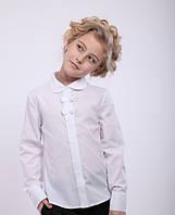 Блуза школьная с длинным рукавом на девочку Ника Размеры 122- 152