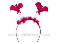 Обруч с летающими мышами, красный, в пак. (700 шт./ящ.)(6098-230red)