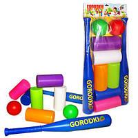 Городки 50*25,5*6см, (8шт), ТМ M-toys(130353)