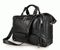 Портфель S.J.D. 7289A кожаный Черный
