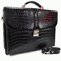 Портфель Karlet 5667black-3 кожаный Черный