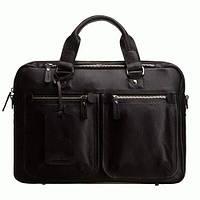 Портфель Blamont Bn001a кожаный Черный