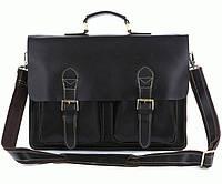 Портфель S.J.D. 7105A кожаный Черный