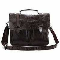 Портфель S.J.D. 6057J кожаный Темно-серый