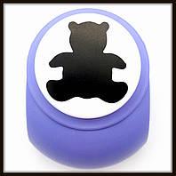Дырокол фигурный Мишка 3,8 см кнопка