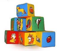 """Набор мякишей-кубиков """"Животный мир"""", 6 кубиков, в пак. 26*19*9см ,произ-во Украина(720040)"""