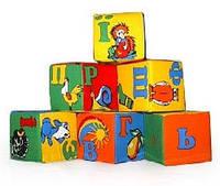 """Набор мякишей-кубиков """"Украинский алфавит"""", 6 кубиков, в пак. 26*19*9см ,произ-во Украина(720019)"""