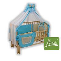 Комплект постельного белья в дет. кроватку, 8предм., ранфос-салатовый, в сумке 60*40см, ТМ Homefort(2050129)