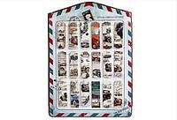 "Закладка картонная ""Рэтрмашины"", цена за планшет в пл.18шт. по 8 закладок(7008)"