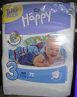 Подгузники Bella Happy 3 (5-9 кг) 72 шт.