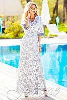 Красивое платье-халат с запахом Хилтон