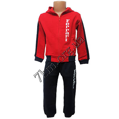 Спортивный Костюм детский Ferrari  для мальчиков (6-9лет) трикотаж, Очень популярый