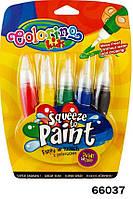 """Ручка """"JUMBO"""" с кисточкой наполненная краской, 5 цветов, ТМ Colorino(66037)"""