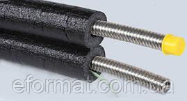 Двойная гофрированная труба DN16 с кабелем, каучуковая изоляция 13 мм