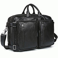 Портфель TIDING BAG t3013 кожаный Черный