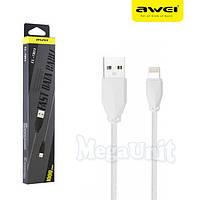 AWEI CL-981 USB кабель Lightning для iPhone 5/6/7/8/X с тканевой оплеткой 100см, фото 1