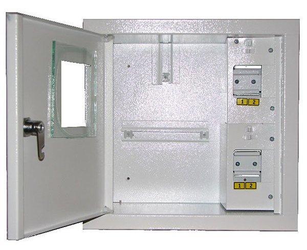 Ящик Лоза 1ф счетчик + 4 автомата электронный наруж ШМР-1Фэ-4А-Н