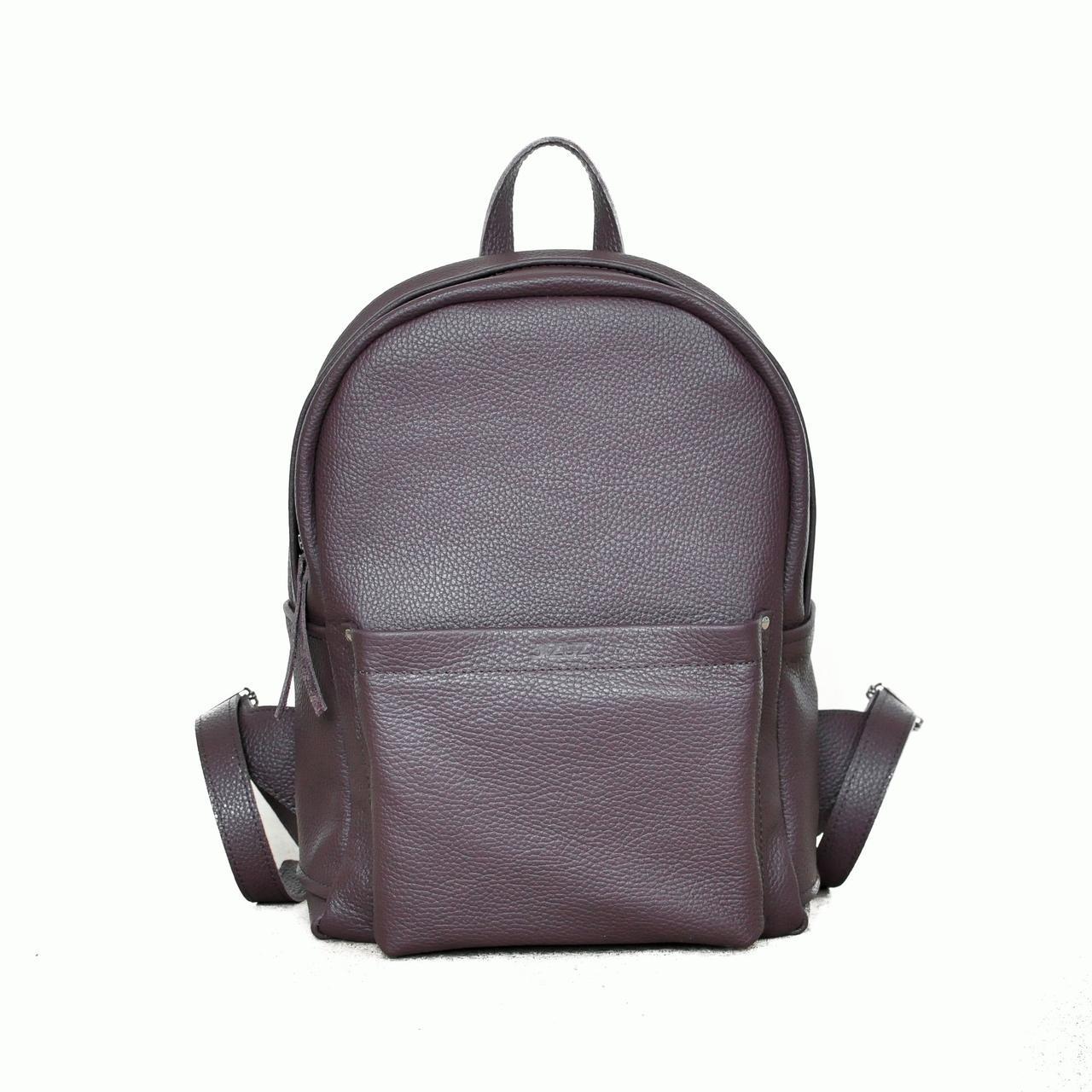 aa55355c Рюкзак Jizuz B283711 кожаный Бордовый - Интернет-магазин