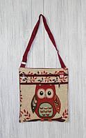 Женская пляжная сумочка через плечо с принтом сов