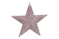 Елочная подвеска Звезда 11см, цвет - светло-розовый