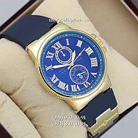 Часы Ulysse Nardin quartz Gold Yelloy-Blue dark
