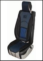 Накидка на сид.MF 1007/CN 12527 BK/BL 07 дерм.+сетка,черно-синяя