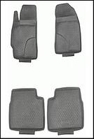 Коврики резиновые TK(4шт/комп) Toyota COROLLA (10) 07->/ Yaris 07->/Auris 07-> сер.