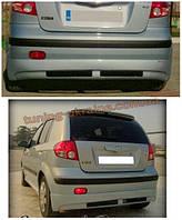 Юбка на задний бампер под покраску на Hyundai Getz 2002-2012