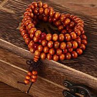 Четки Буддийские из сандала оранжевые