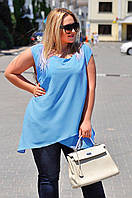 Блуза-туника с двойным низом 9070 батал (ВИВ)