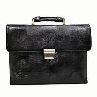 Портфель KARYA 0152-076 кожаный Черный