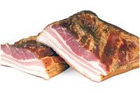 Сало копченное с прослойкой мяса из Венгрии кусками от 500гр.