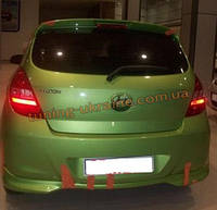 Юбка на задний бампер под покраску на Hyundai i20 2008-2010