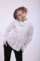 Блуза школьная с длинным рукавом из батиста Агния Размеры 122- 152 122