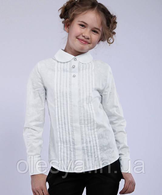 Блуза школьная с длинным рукавом из батиста Агния Размер 152