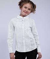 Блуза школьная с длинным рукавом из батиста Агния Размеры 122- 152