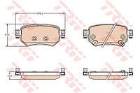 Колодки тормозные задние Mazda 6 GJ 15- TRW