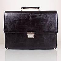 Портфель KARYA 0611-076black кожаный Черный