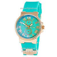 Часы Ulysse Nardin Quartz Gold-Turquoise