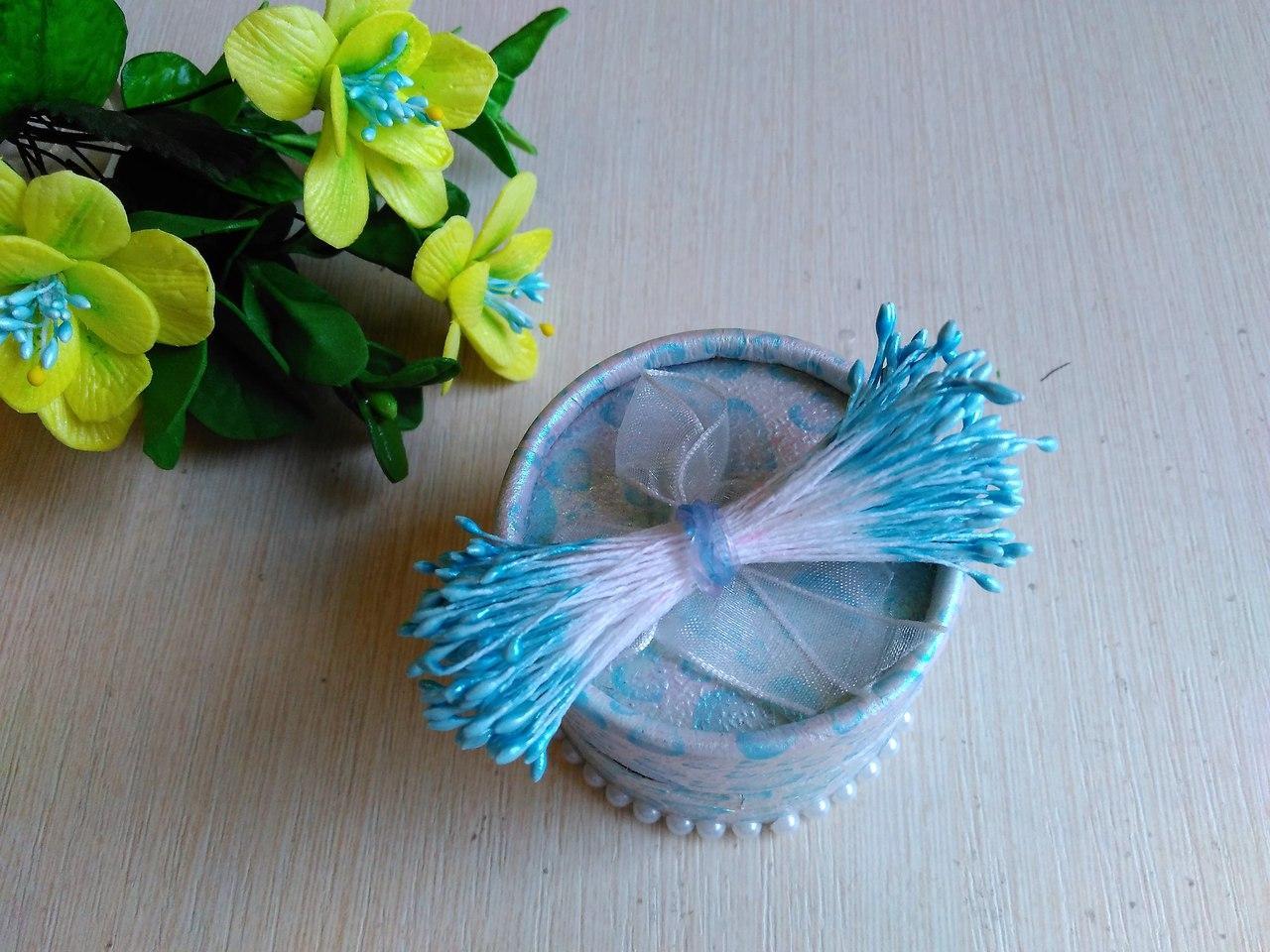 Тычинки мелкие (2-3 мм) цвет голубой глянец