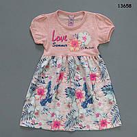 """Летнее платье """"Цветы"""" для девочки. 98, 104, 122 см, фото 1"""