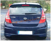 Юбка на задний бампер под покраску на Hyundai i30 2007-2011 хэтчбек