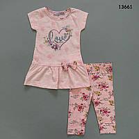 Летний костюм Love для девочки. 92 см, фото 1
