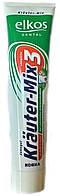 Зубная паста Elkos Krauter-mix, 125ml, Германия (Элькос), зеленая