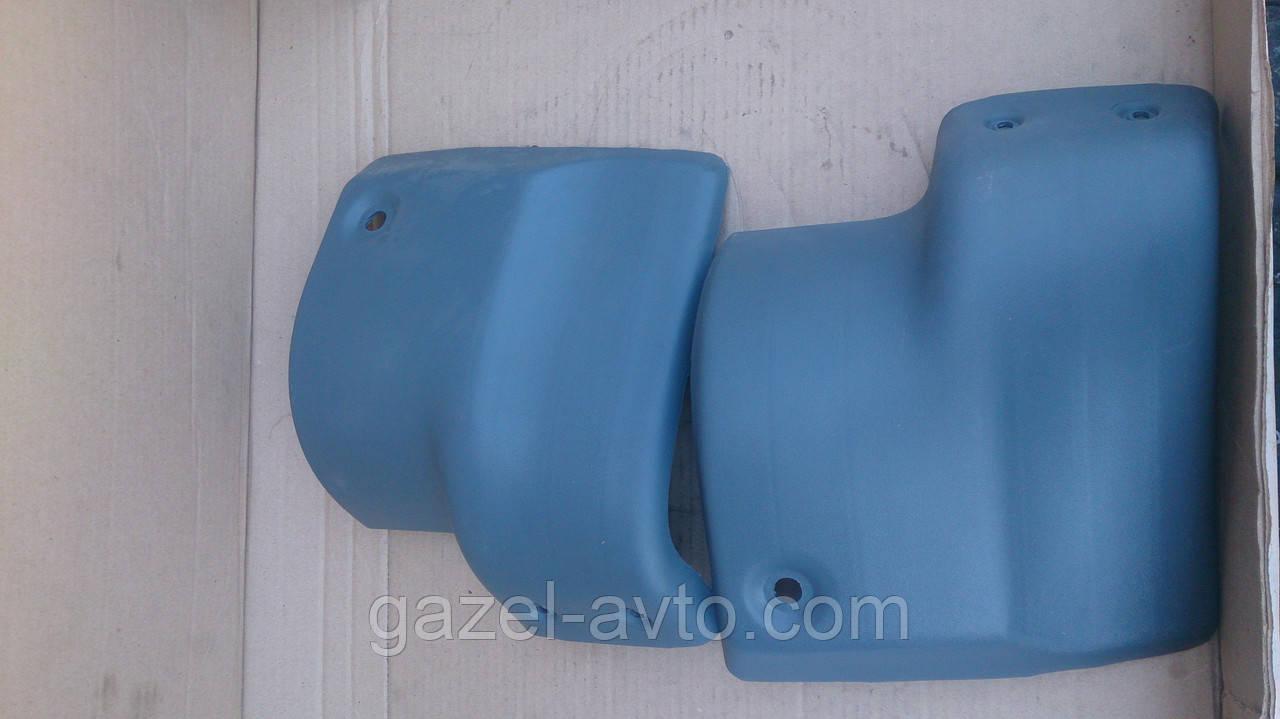 Бампер Газель задний правый, левый (клык) серый (комплект 2 шт) (пр-во Россия)