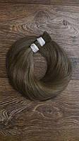 Натуральные волосы для наращивания 50-55см темнорусые