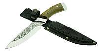 Охотничий нож Спутник 14, инструмент для охотника, рыбака, туриста, гравировка на лезвии, широкий клинок