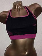 Топ женский спортивный 3508 черного цвета