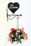 Настенная подставка для подвесного цветка Сердце